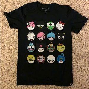 Kawaii black Sanrio t-shirt